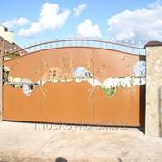 Ворота кованые откатные 10 фото
