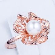 Кольцо серебряное позолоченное Арт К3Ж/188 фото