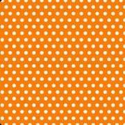Салфетки цветные Горошек Оранжевый фото