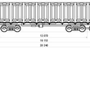 Грузоперевозки железнодорожные, 8-осный полувагон, модель 12-508 фото