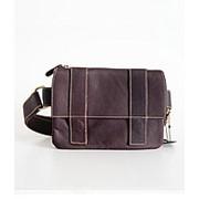 """Кожаная сумка на пояс """"Лорена"""" (коричневая) фото"""