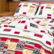 Ткань постельная Бязь 142 гр/м2 220 см Набивная Восточный лабиринт красный/S820 TDT фото