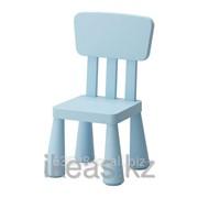 Детский стул голубой для дома,улицы, голубой МАММУТ фото
