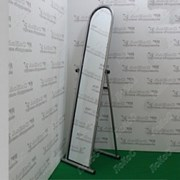 Зеркало торговое напольное, 39W*49,5D*142H, рама серебро, CO217 фото