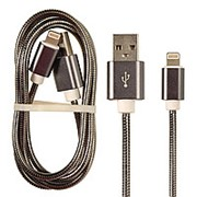 Кабель USB M2 GOLD Metall i6 Apple 1000mm фото