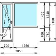 Балконный блок ПВХ 2100х2050 фото
