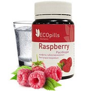 Eco Pills Raspberry таблетированные конфеты для похудения фото