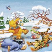 Фотообои Зимнее катание фото