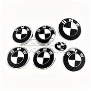 Комплект эмблем Classik White Black для BMW фото