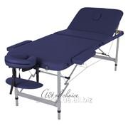 Стол массажный алюминиевый LEO Comfort синий фото