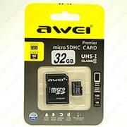 Awei MicroSD Card 32 гигабайта фото