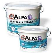 Краска Альпакрил, белая матовая 2л фото