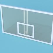 Щит баскетбольный игровой из монолитного поликарбоната 10 мм на металлической раме, 180 х 105 см БЩП-180105 фото