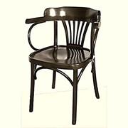 Венское деревянное кресло Классик с жестким сидением. фото