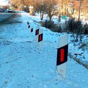 Дорожные столбики сигнальные фото