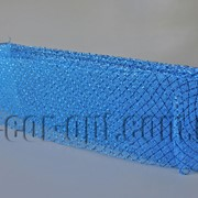 Сетка синяя с люрексом для бантов и декораций 8см/25ярд 570576 фото