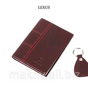 Обложка для водительского удостоверения с брелком LEXUS, 065-07-03К фото