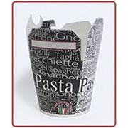 Коробочки бумажные для китайской лапши паста/тай 750мл. 26oz фото