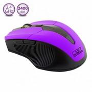 Мышь CBR CM-547 Purple оптика, 2,4Ггц, 2400dpi, эргон, 2 доп.кл., USB, пурпур фото