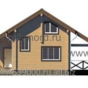 Дом из профилированного бруса, сосна,ель. Модель Норд-83