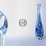 Функционально-декоративная ваза из стекла, ручной работы. Артикул 0231 фото
