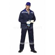 Костюм Профи 2 т.синий/василек КОС522 фото