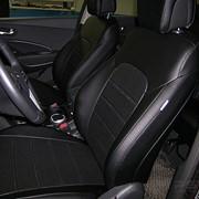 Чехлы Hyundai Santa Fe III 13 черный эко-кожа Оригинал фото