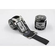 Бинт боксерский Kougar K600, 3,5м, эластичный хлопок, камуфляж серый фото