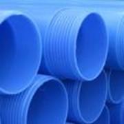 Труба обсадная синяя (пластиковая питьевая) д. 128х7,4х1000 мм. фото