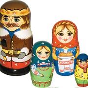 Матрешка Семья 4 кук. фото