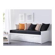 IKEA Каркас кушетки с 2 ящиками, белый (00228705) БРИМНЭС / BRIMNES ИКЕА фото
