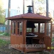 Гриль-домики деревянные фото