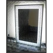 Изготовление зеркал и стекла по размерам заказчика.Пескоструйные рисунки на стекле и зеркалах. фото