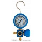 Манометр одновентильный Value VMG-1-S-L Type2 , R410. 407. 22. 134 , синий с глазком фото