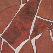 Камень на садовые дорожки - песчаник красный фото