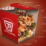 Рисовая лапша с морепродуктами. фото