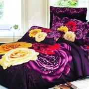 Комплект постельного белья цветной фото