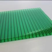 Поликарбонат сотовый 12000х2100х6 зеленый фото