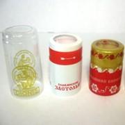 """Термоусадочный колпачок на комплект бутылки со стаканом """"Стопка в подарок"""" фото"""