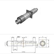 Опора неподвижная стальная в оцинкованной трубе-оболочке с металлической заглушкой изоляции и кабелем вывода d=1020 мм, s=11 мм, L=210 мм