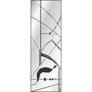 Обработка пескоструйная на 1 стекло артикул 3-04 фото