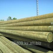 Опора ЛЭП деревянная L 6.3 м, D 19-20 см фото