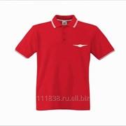 Рубашка поло Chrysler красная с полоской фото