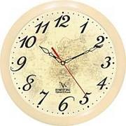 """Часы настенные """"Вега"""" П1-14/7-97 Классика бежевая фото"""