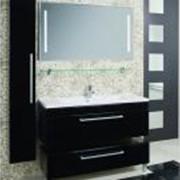 Мебель для ванной МАДРИД 120, черная фото