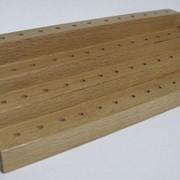 Подставка для боров деревяннная, ступенчатая 150мм фото
