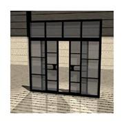 Двери алюминиевые раздвижные фото