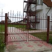 Распашные ворота св10 фото
