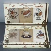 Набор полотенец Juanna 3 шт. 50х70 вафельные - кофе люкс фото
