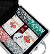 Покерный набор на 100 фишек с номиналом ГД5 - 100 фото